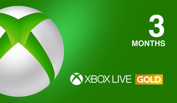 Xbox Live GOLD Subscription Card 3 Months BRAZIL XBOX LIVE