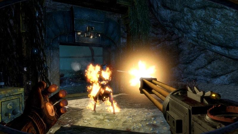 Shooting in Bioshock 2