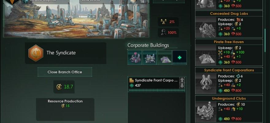 MegaCorp options