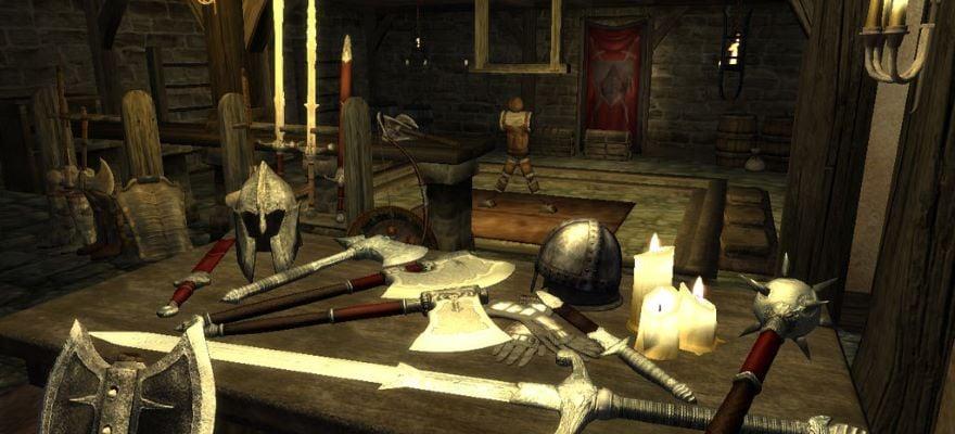 Weapons in Oblivion