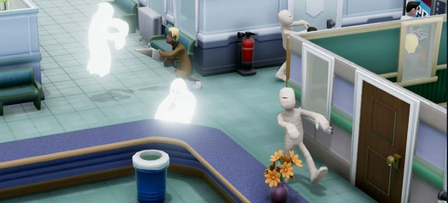 Ghosts in Two Point Hospital video game