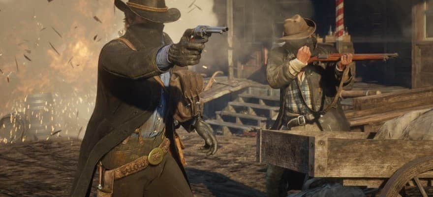 Random encounter with bandits in RDR2