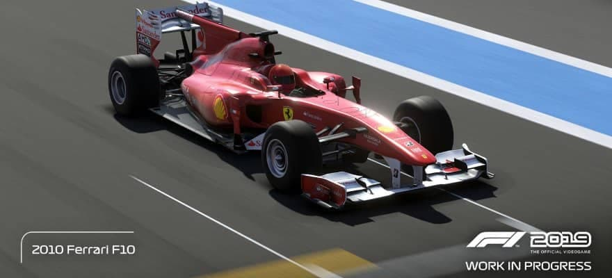 Ferrari F10 in game