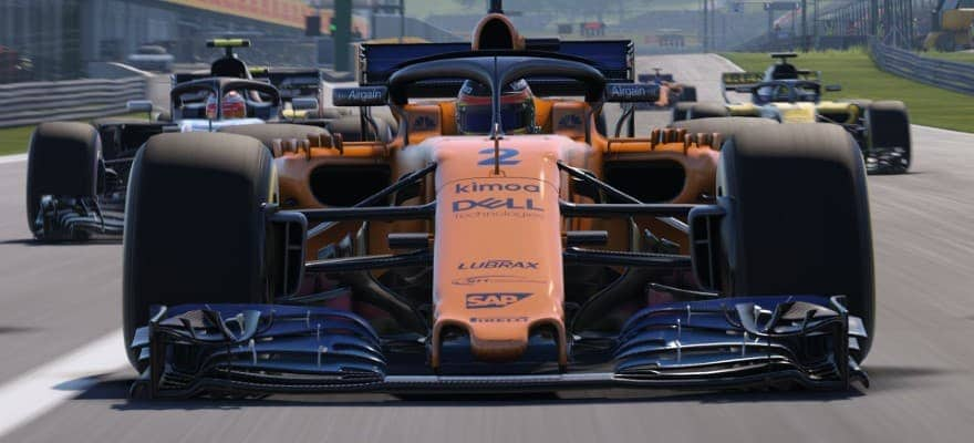 F1 car in game