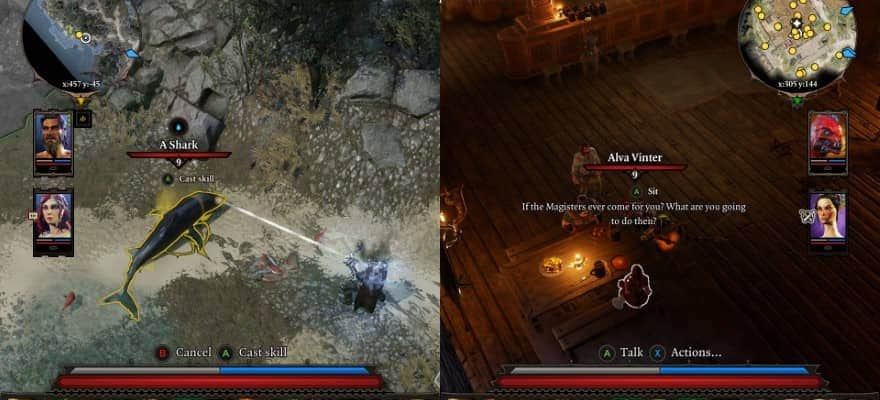 Splitscreen in Divinity 2 Orginal Sin