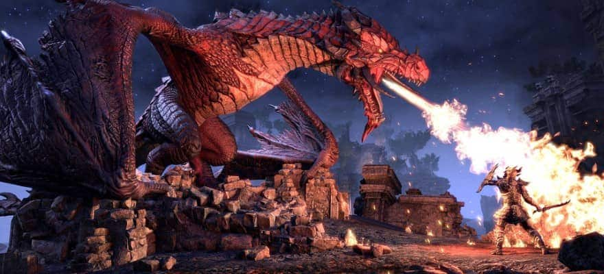 Dragons in The Elder Scrolls Online Elsweyr