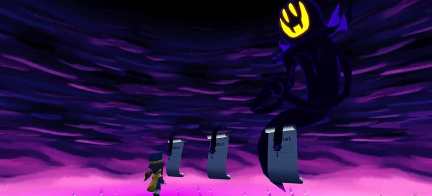 Hat kid with Monster