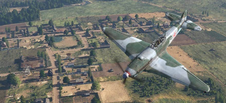 Planes during battle in Steel Division 2