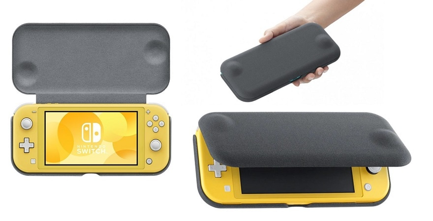 Nintendo Switch Lite Case + Screen Protector - Grey