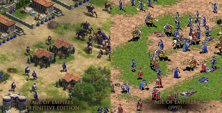 Age of Empires Comparison old and new