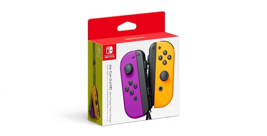 Nintendo Switch Joy-Con Wireless Controller - Neon Purple / Neon Orange