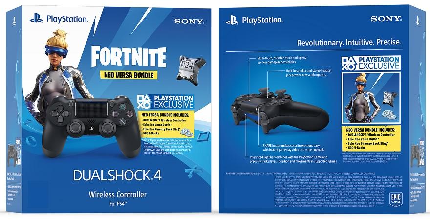 Sony Dualshock 4 - V2 Fortnite Neo Versa Bundle Wireless Controller
