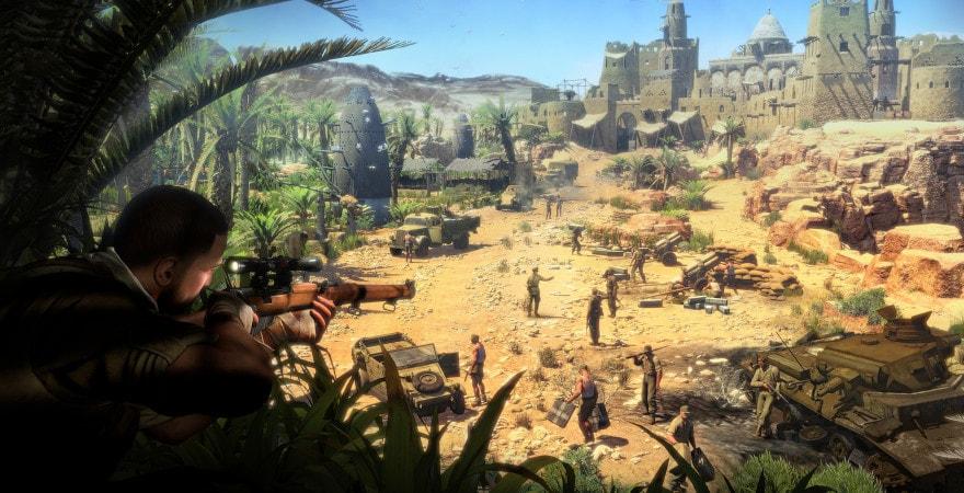 Sniper Elite 3 shoot