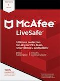 McAfee Livesafe 1 Device 3 Years Key GLOBAL
