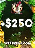 WTFSkins Code 250 USD