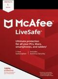 McAfee Livesafe 1 Device 1 Year Key GLOBAL