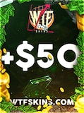 WTFSkins Code 50 USD