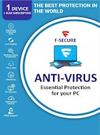 F-Secure Antivirus 1 Device 1 Year Key - GLOBAL