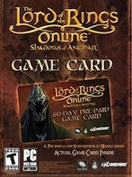 Lord of the Rings Online Time Card Prepaid 60 Days LOTRO EUROPE
