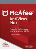 McAfee AntiVirus Plus PC, Android, Mac, iOS Unlimited Device 1 Year Key GLOBAL