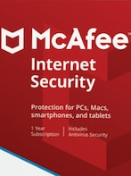McAfee Internet Security 10 Devices 1 Year Key GLOBAL