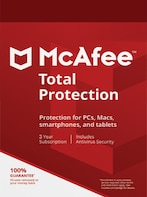 McAfee Total Protection Multidevice 1 Device 3 Years Key GLOBAL
