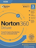 Norton 360 Deluxe - (3 Devices, 1 Year) - Symantec Key UNITED STATES / CANADA