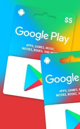 GOOGLE PLAY GIFT CARD 5 USD NORTH AMERICAGOOGLE PLAY NORTH AMERICA