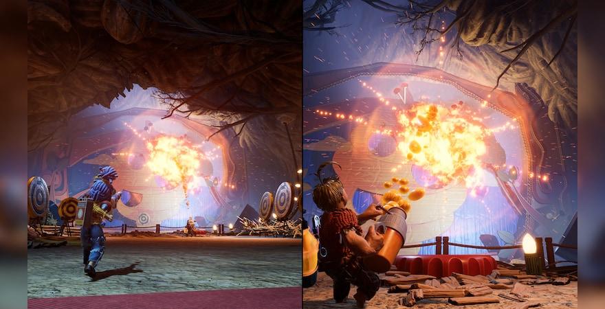It takes two split screen