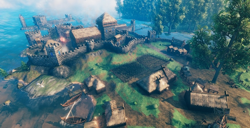 Valheim building and crafting