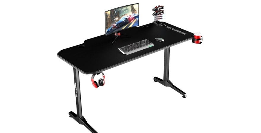 ULTRADESK FRAG BLACK - gaming desk 140x66 cm