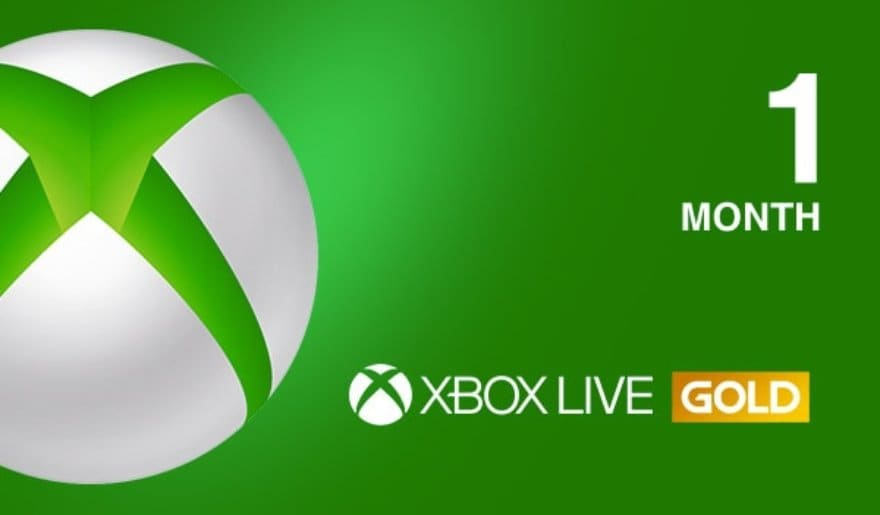 Xbox Live GOLD Subscription Card 1 Month